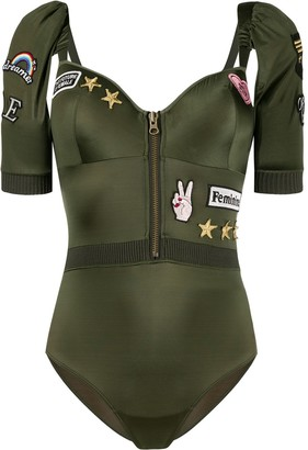Marlies Dekkers Aviator multi-patch bodysuit