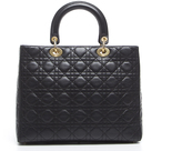 Christian Dior Lambskin Large Lady Bag