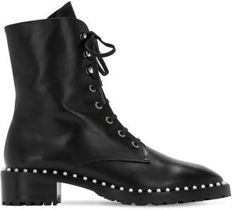 Stuart Weitzman 25mm Allie Leather Combat Boots