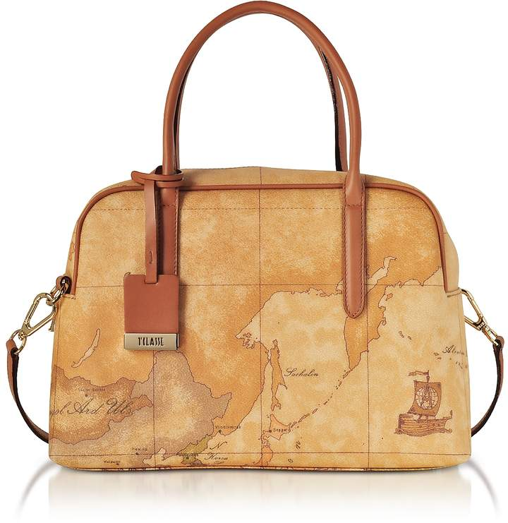 Alviero Martini Geo Classic Satchel Bag w/Shoulder Strap