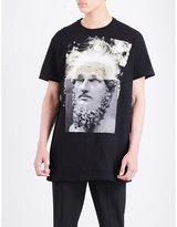 Neil Barrett Hybrid-print Cotton-jersey T-shirt