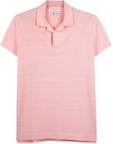 Orlebar Brown Felix Pink Piqué Cotton Blend Polo Shirt