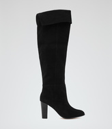 Reiss Vale OVER-THE-KNEE SUEDE BOOTS