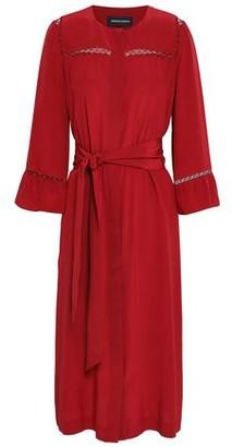 Vanessa Seward Lattice-trimmed Silk Midi Dress