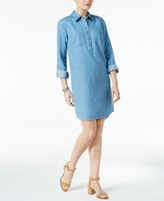 Style&Co. Style & Co Style & Co Petite Denim Shirtdress, Created for Macy's