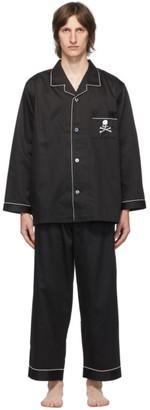 Mastermind Japan Black Embroidered Pyjama Set