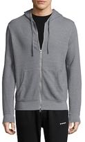 Save Khaki French Terry Hooded Cotton Sweatshirt