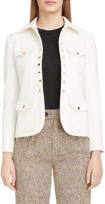 Chloé Snap Detail Wool Blend Jacket