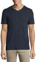 Vince Short-Sleeve V-Neck Pima Jersey T-Shirt, Navy