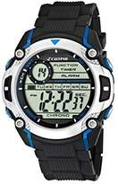 Calypso Men's Digital Watch with LCD Dial Digital Display and Black Plastic Strap K5577/2