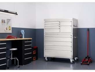 """Trinity 43"""" X 25"""" Stainless Steel Tool Chest Combo"""