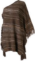 Ralph Lauren one shoulder striped blouse - women - Silk/Linen/Flax/Cashmere - S