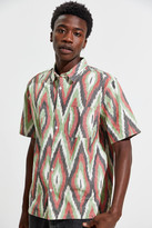 UO Ikat Short Sleeve Button-Down Collared Shirt
