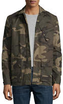 Ovadia & Sons Camo-Print Field Shirt Jacket, Green