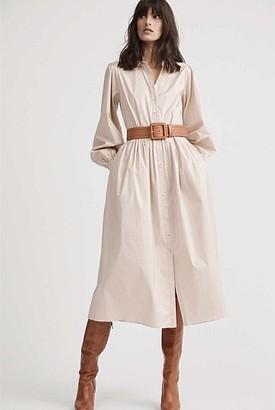 Witchery Cotton Maxi Shirt Dress