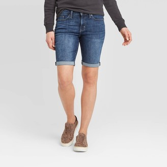 Universal Thread Women's Mid-Rise Short Jean Shorts - Universal ThreadTM Dark Wash