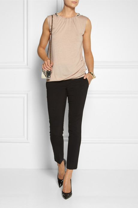 Vanessa Bruno Embellished wool-jersey top