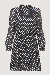 Marella Lido Lurex Spot Dress - 12