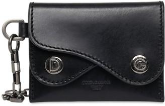 Dolce & Gabbana Leather Wallet W/ Chain