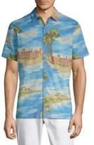 Saks Fifth Avenue BLACK Boat Days Cotton Button-Down Shirt