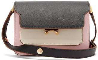Marni Trunk Mini Saffiano-leather Cross-body Bag - Womens - Pink Multi