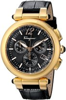 Salvatore Ferragamo Women's F77LCQ5009 SB09 Idillio Gold Ion-Plated Watch with Leather Band