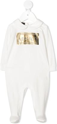 Versace Logo-Print Long-Sleeved Pajamas