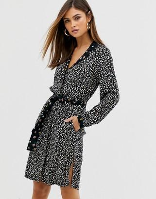 Vero Moda copenhagen studio ditsy mixed print dress-Multi