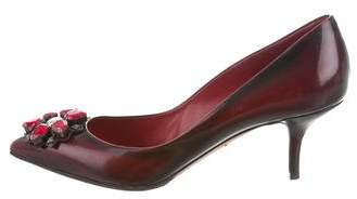 Dolce & Gabbana Embellished Pointed-Toe Pumps