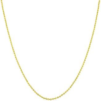 Fremada 14k Yellow Gold 16-inch Diamond-cut Ball Chain