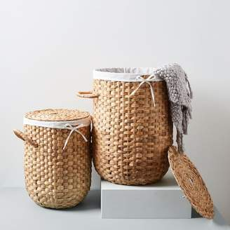 west elm Round Weave Laundry Baskets - Natural