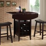 Baxton Studio Reynolds 3-Piece Dark Brown Bar Table Set