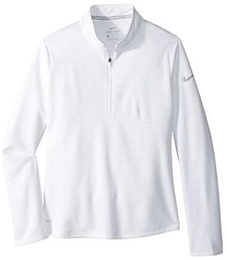 Nike Kids Dry Long Sleeve Top (Little Kids/Big Kids) (White/Black) Girl's Clothing