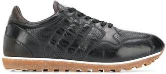 Alberto Fasciani perforated detail sneakers