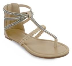 OLIVIA MILLER Atlantic Multi Rhinestone Sandals Women's Shoes