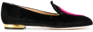 Charlotte Olympia Broken Heart slippers