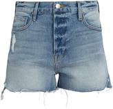 Frame Le Original tulip-hem denim shorts