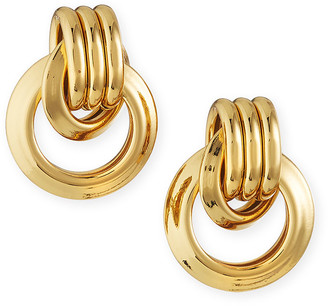 Kenneth Jay Lane Small Door-Knocker Earrings