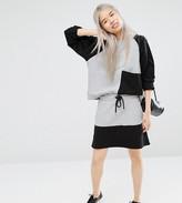 Monki Colour Block Sweat Skirt