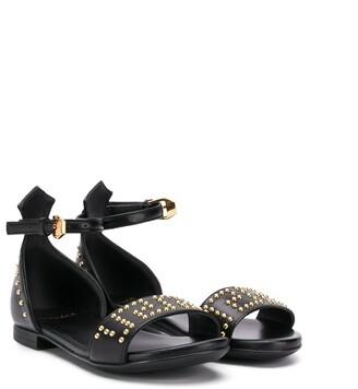 Versace Flat Studded Sandals