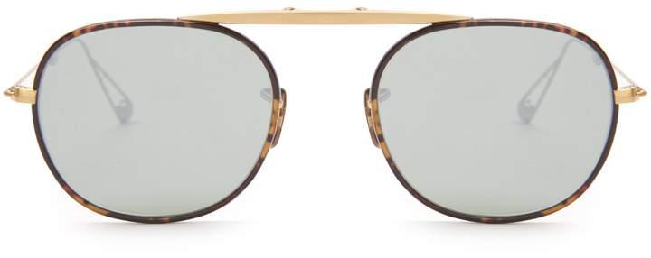 Garrett Leight Van foldable aviator-frame sunglasses