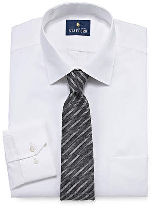 Stafford Mnes Big and Tall Box Dress Shirt and Tie Set