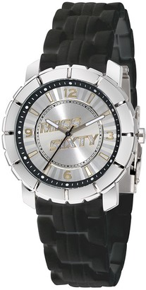 Miss Sixty Ladies Watch Sij006 in Collection Star 3 H and S Silver Dial and Black Strap