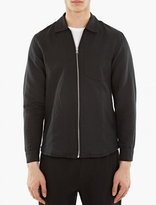 Our Legacy Black Linen-blend Zip Shirt