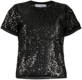 In The Mood For Love Swift sequin embroidered top