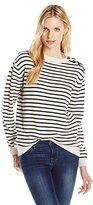MiH Jeans Women's Vintage Button Breton Sweater