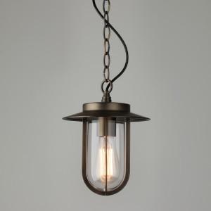 Astro Lighting - Bronze Montparnasse Pendant Light - Glass/Black