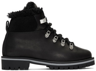 Yves Salomon Black Merinillo Boots