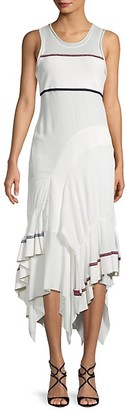 3.1 Phillip Lim Ruffle Hem Striped Midi Dress