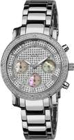 Akribos XXIV Women's AKR440SS2 Grandiose Dazzling Diamond Chronograph Stainelss Steel Bracelet Watch